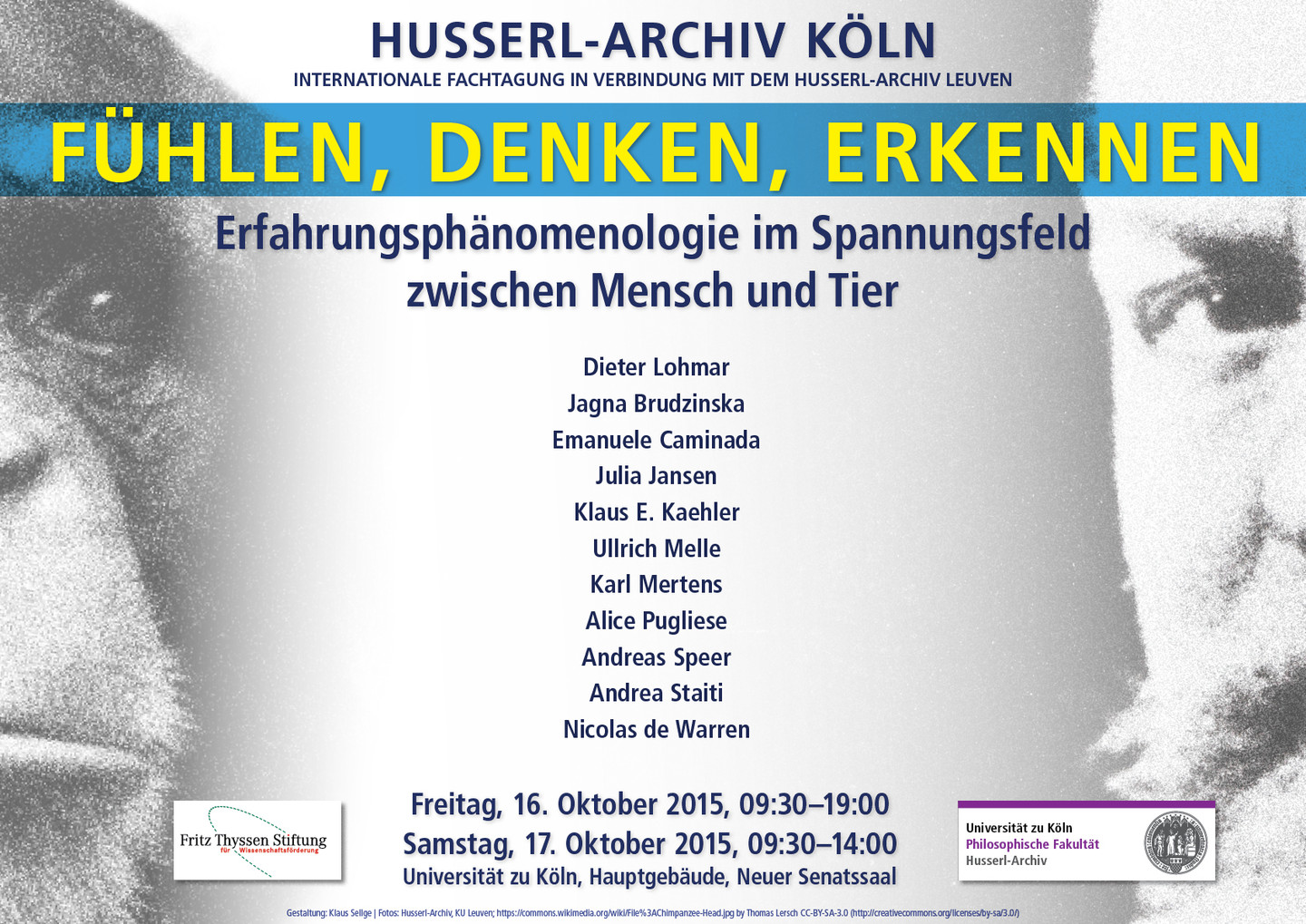 Husserl-Archiv Tagung Herbst 2015: Plakat
